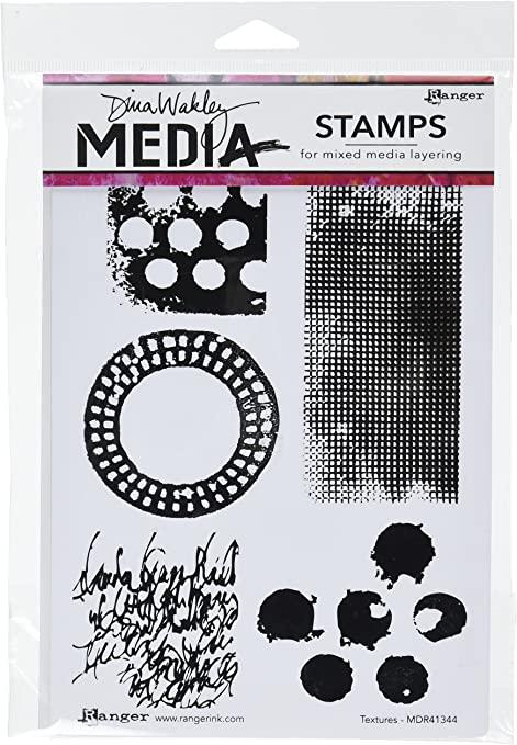Ranger Dina Wakley Media Textures Stamp Set