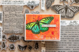 Cardmaking with Mono Prints and Stampers Anonymous stamps