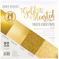 Tonic Studios Craft Perfect 6X6 Card Pack – Gold Hearted