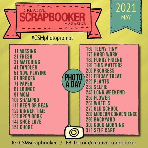 May Photo Challenge Creative Scrapbooker