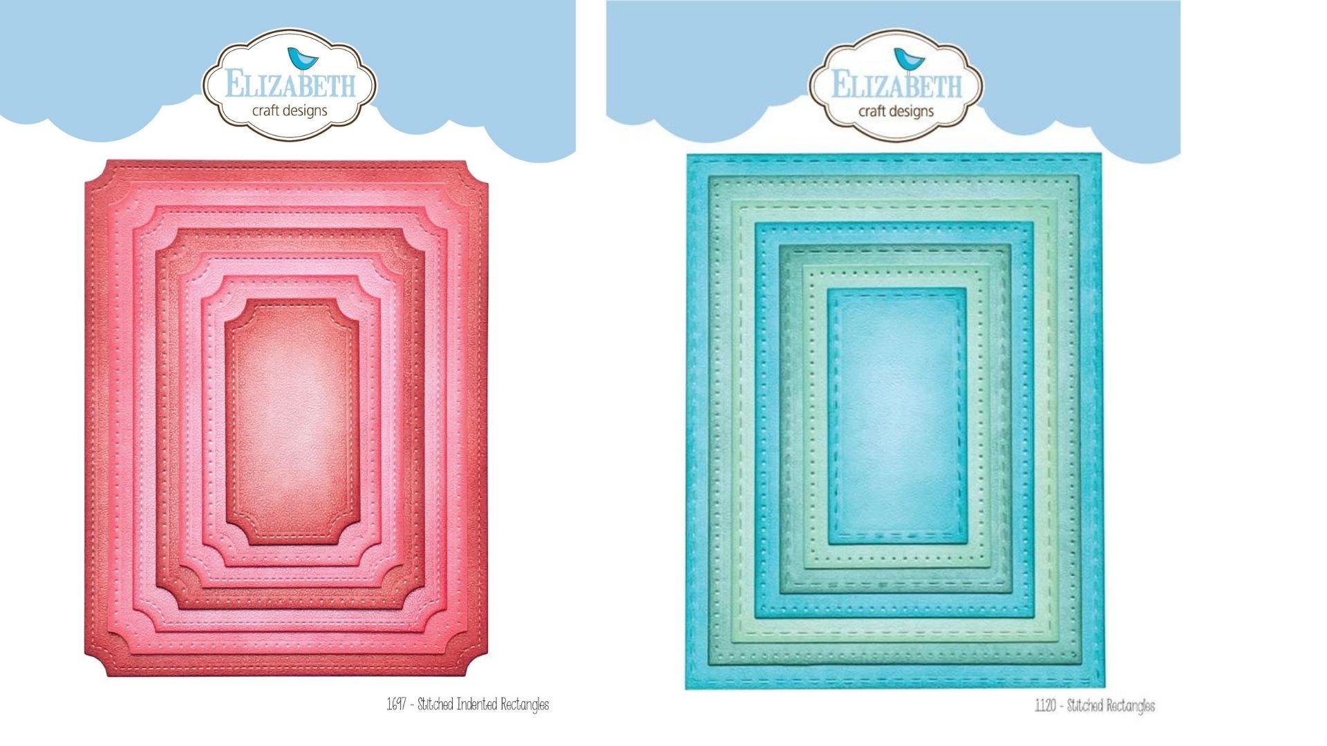 Elizabeth Craft Designs Stitched rectangles