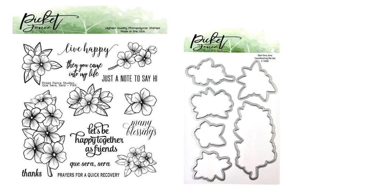 Picket Fence Studios Que Sera, Sera Stamp Set