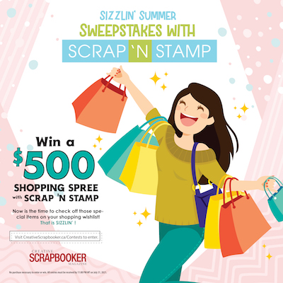 Scrap N Stamp Sweepstakes