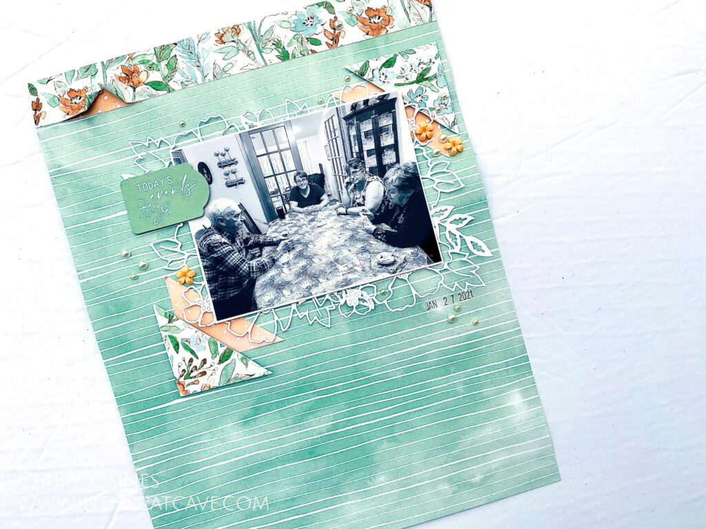 Cathy Caines - Stampin' Up! - Scrapbook Layout