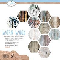 Elizabeth Craft Designs Worn Wood Patterned Cardstock