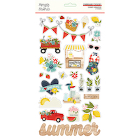 Simple Stories Summer Farmhouse Chipboard Stickers