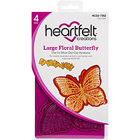 Heartfelt Creations Large Floral Butterfly Die