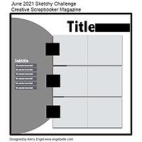 Creative Scrapbooker Magazine June 2021 Sketch