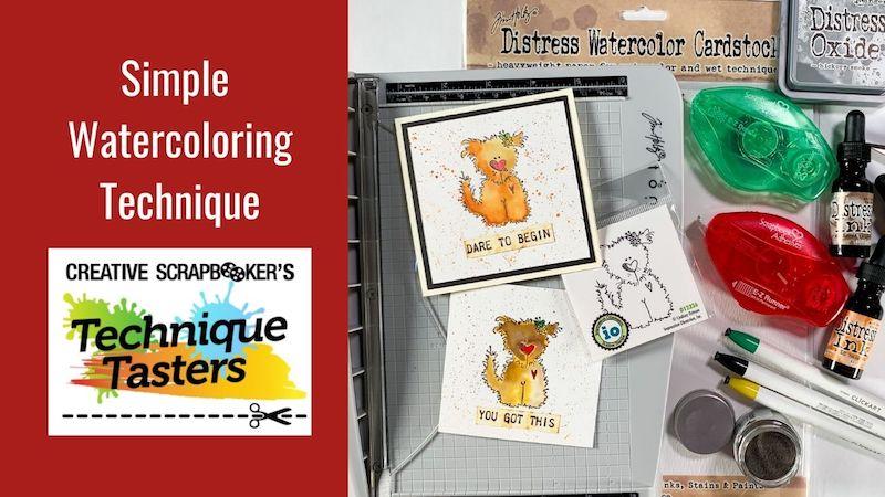 Simple Watercoloring Technique – Technique Tasters #269