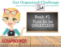 Get Organized Challenge - Week 1 - Totally Tiffany - Creative Scrapbooker Magazine