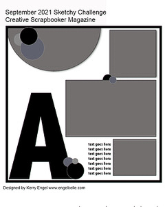 Creative Scrapbooker Magazine / august Sketchy Challenge